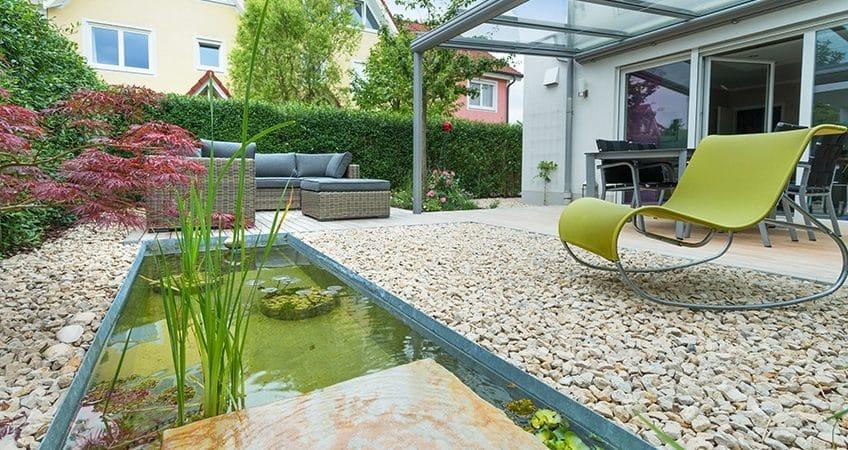 rock garden-pond