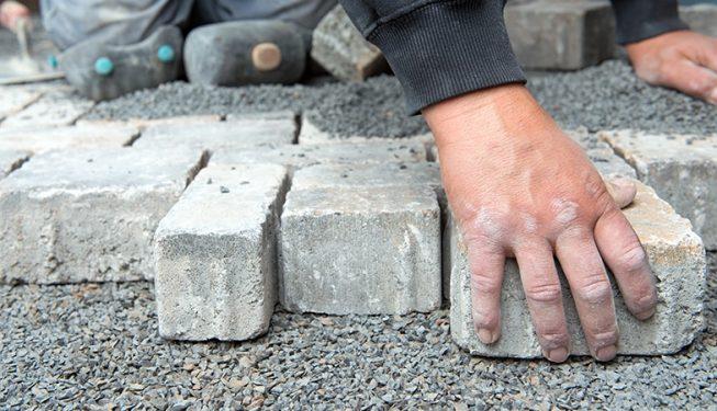 brick and stone hardscaping